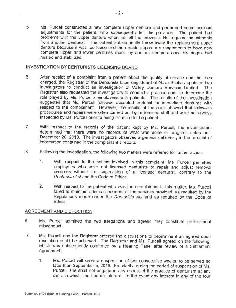 Page two of Board Decision rendered July 26, 2016